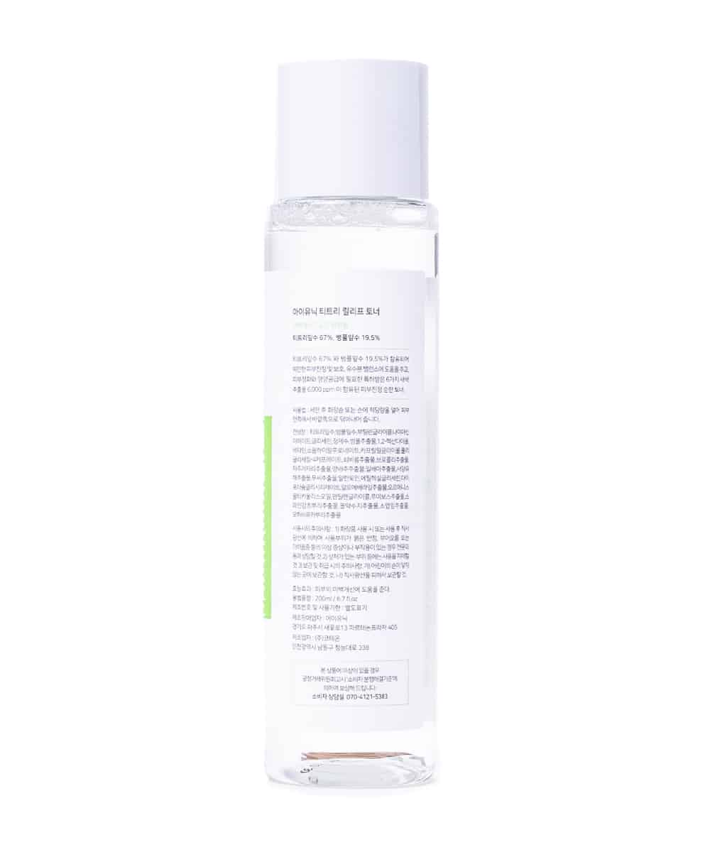iUNIK Tea Tree Relief Toner (200ml, Back)