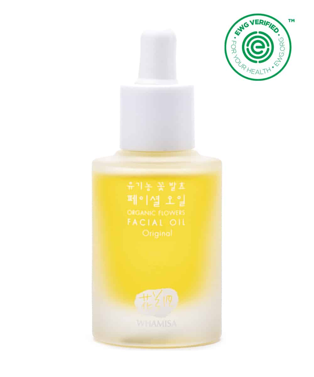 Whamisa Organic Flowers Facial Oil (30ml, Front)