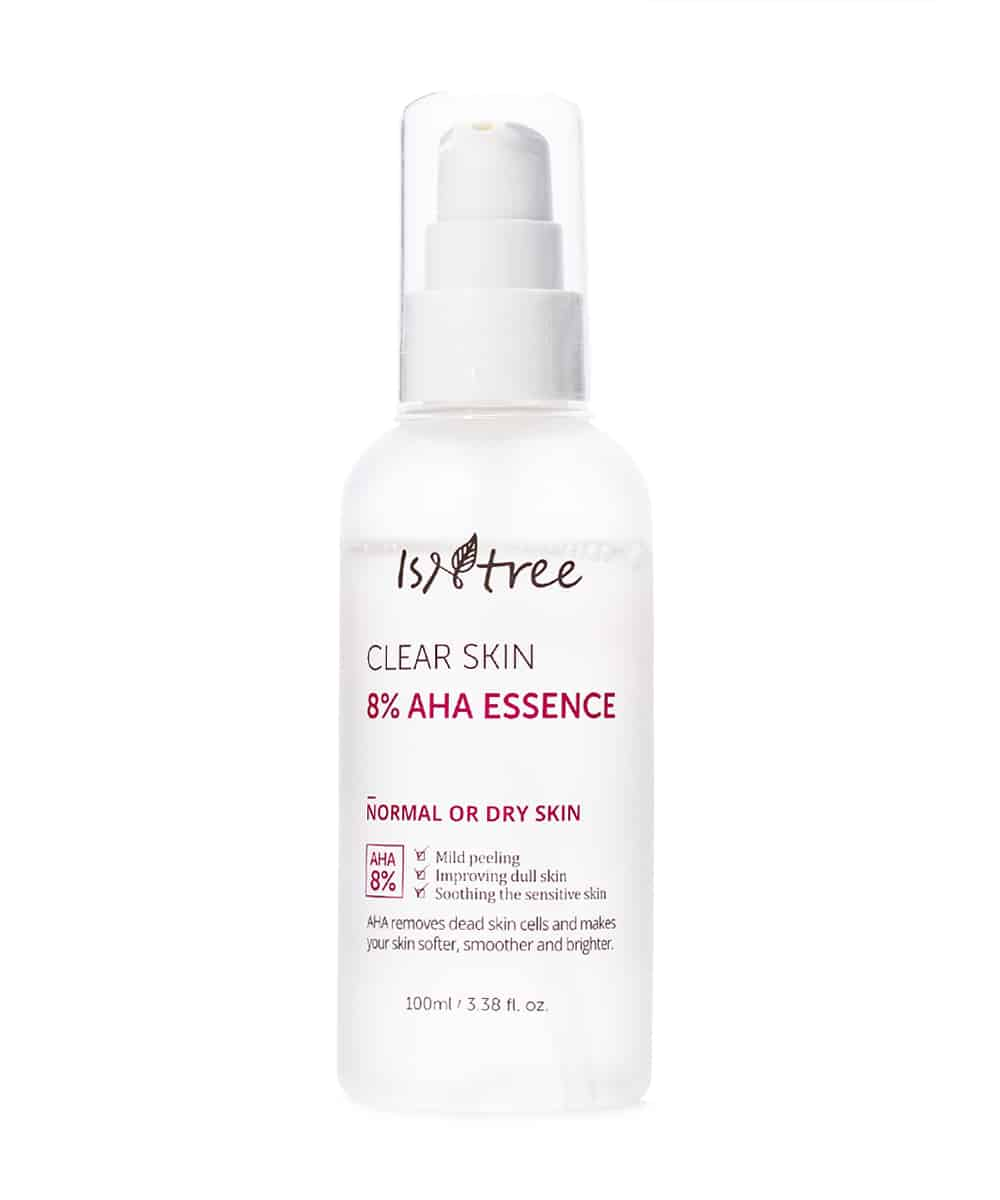 Isntree Clear Skin 8% AHA Essence (100ml, Front)