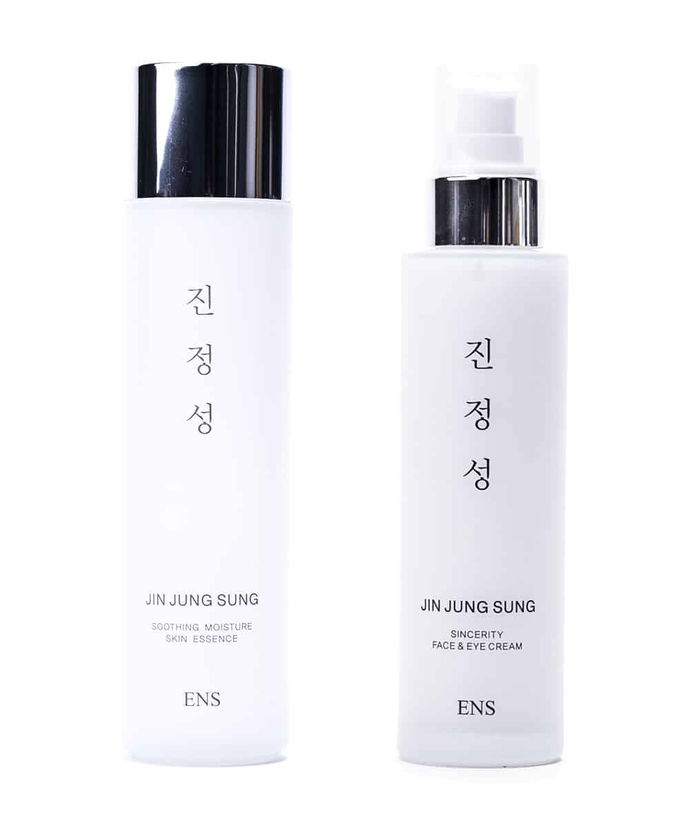 Jin Jung Sung Soothing Moisture Essence Serum + Sincerity Face & Eye Cream Set (Front)