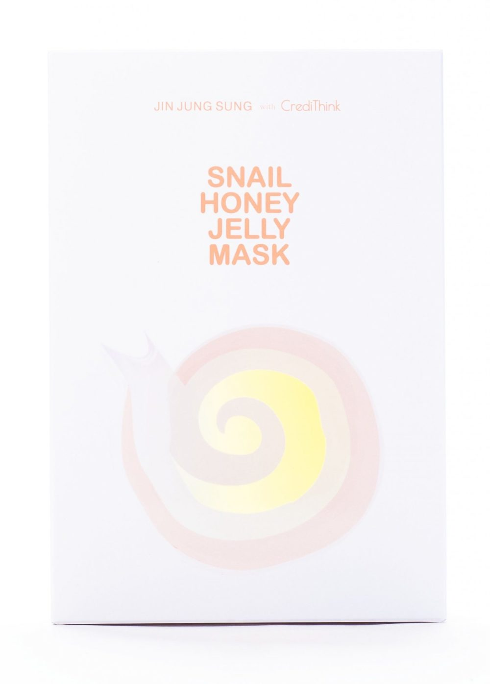 [Jin Jung Sung x CrediThink] Snail Honey Jelly Mask Box (Front)