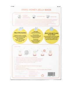 [Jin Jung Sung x CrediThink] Snail Honey Jelly Mask Box (Back)
